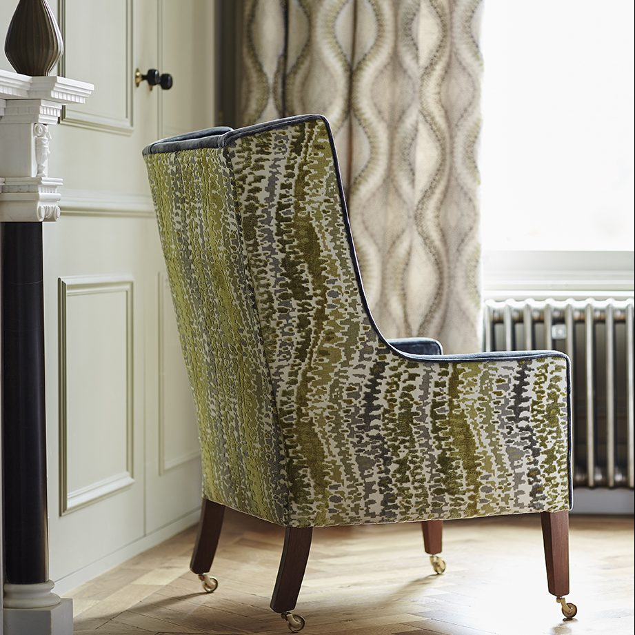 Cascade Velvet Chair Upholstery in Stafford