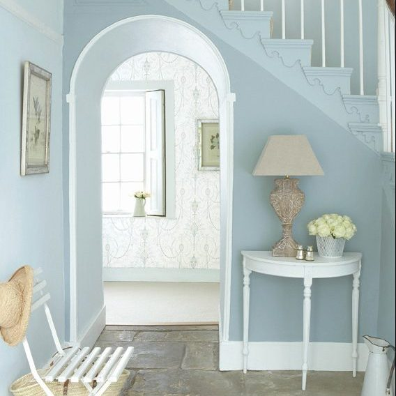 Bone China Blue a refreshing change for an elegant hallway LG