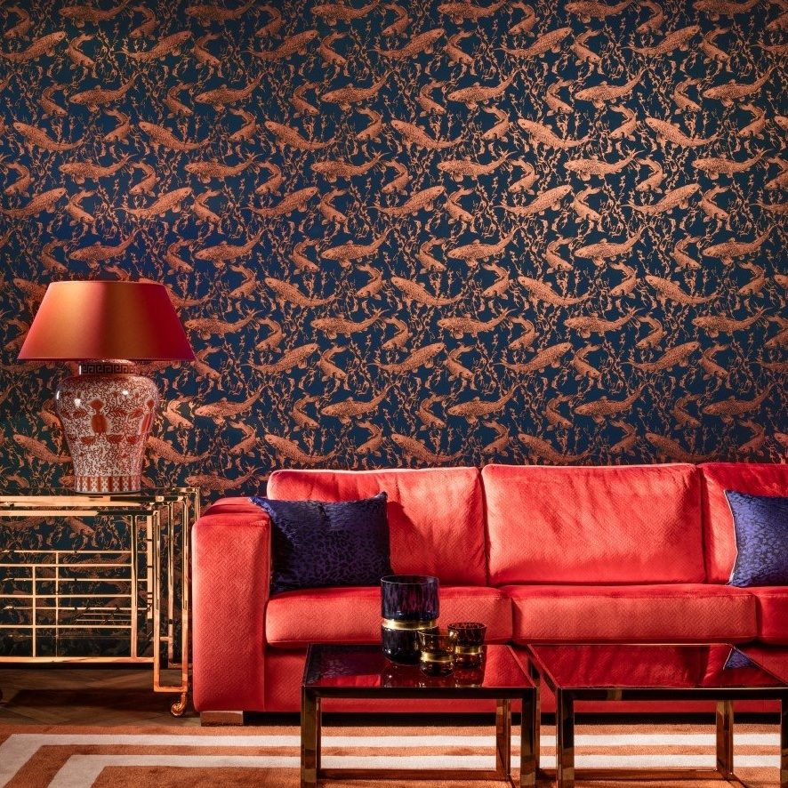 Statement Lounge Wallpaper Staffordshire