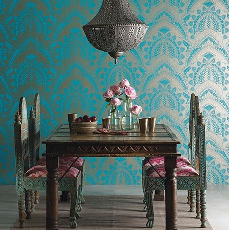 Dining Room Wallpaper Matthew Williamson