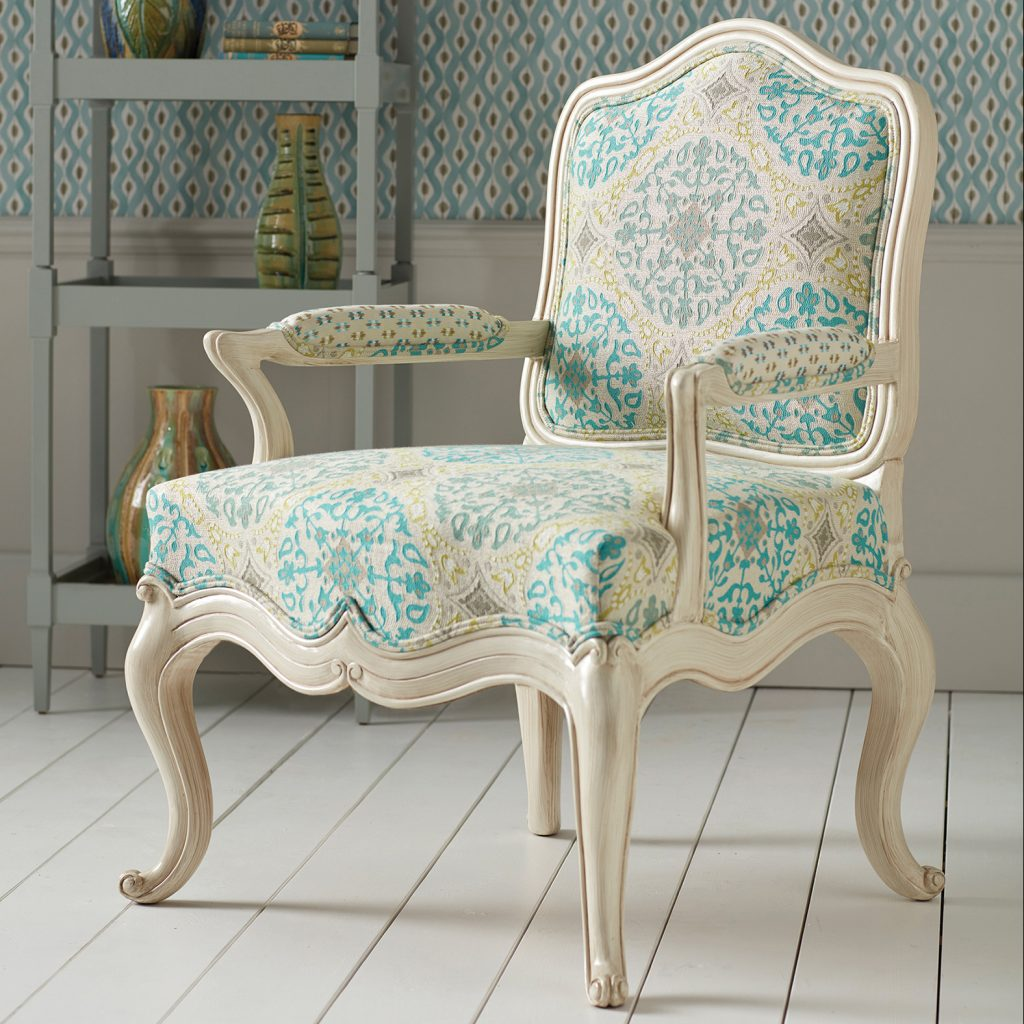 Chair Upholstered in Nina Campbell fabric Stafford