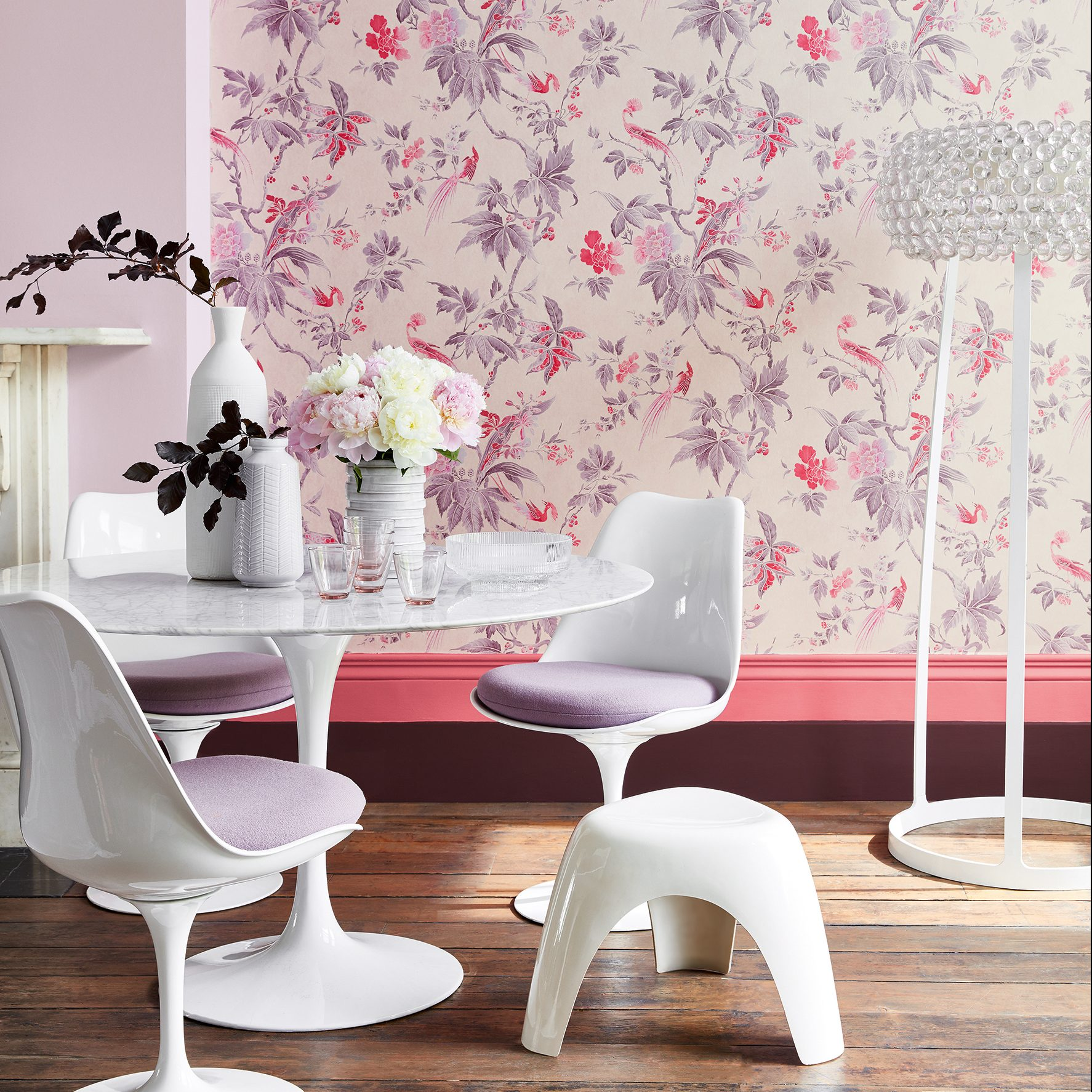 Paradise Pink Revolution wall paper Stafford