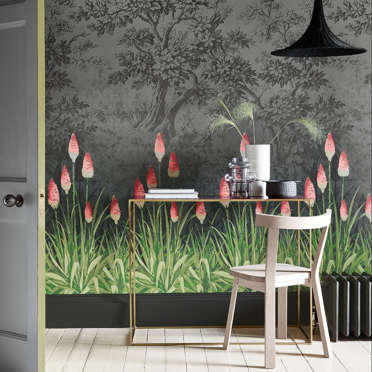 Upper Brook Street Little Greene Wallpaper in Stafford