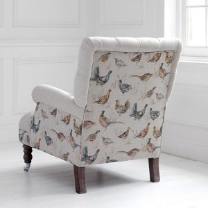 Voyage Maison Cornelius Chair Gamebirds Linen Stafford