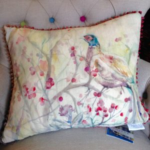 Voyage Maison - Blackberry Row (Pheasant) Cushion 40cm x 50cm Staffordshire