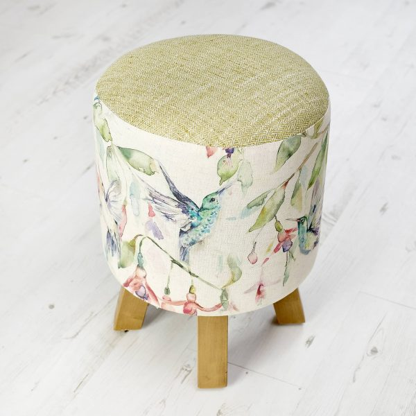 Voyage Maison Monty Footstool  Fuchsia Flight Humming Bird www.funkywunkydoodahs.co.uk