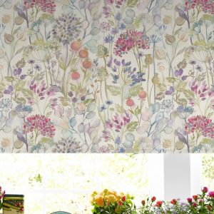 Voyage Maison Roller Blind Hedgerow CREAM Stafford www.funkywunkydoodahs.co.uk