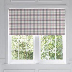 Voyage Maison Roller Blind Narnia Wisteria Check Stafford www.funkywunkydoodahs.co.uk