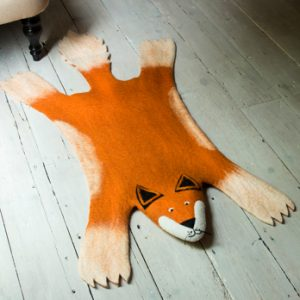 Rug, Animal, Fox, Childrens, Wool