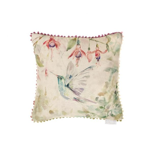 Voyage, Maison, Fuchsia, Flight, Cushion, Humming, Bird, Stafford
