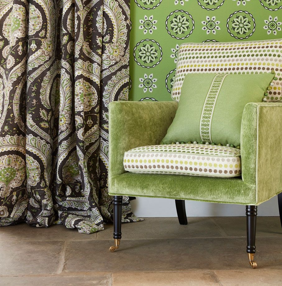 Osborne, and, Little, Fabrics, Wallpapers, Staffordshire, Interior, Design, Curtains