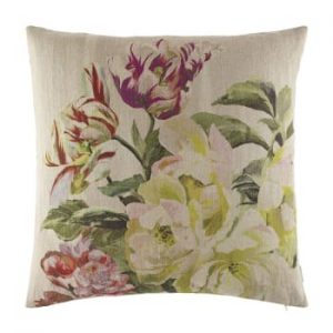 Designers, Guild, Delft, Flower, Tuberose, Cushion, Feather, Interior, Design, Stafford
