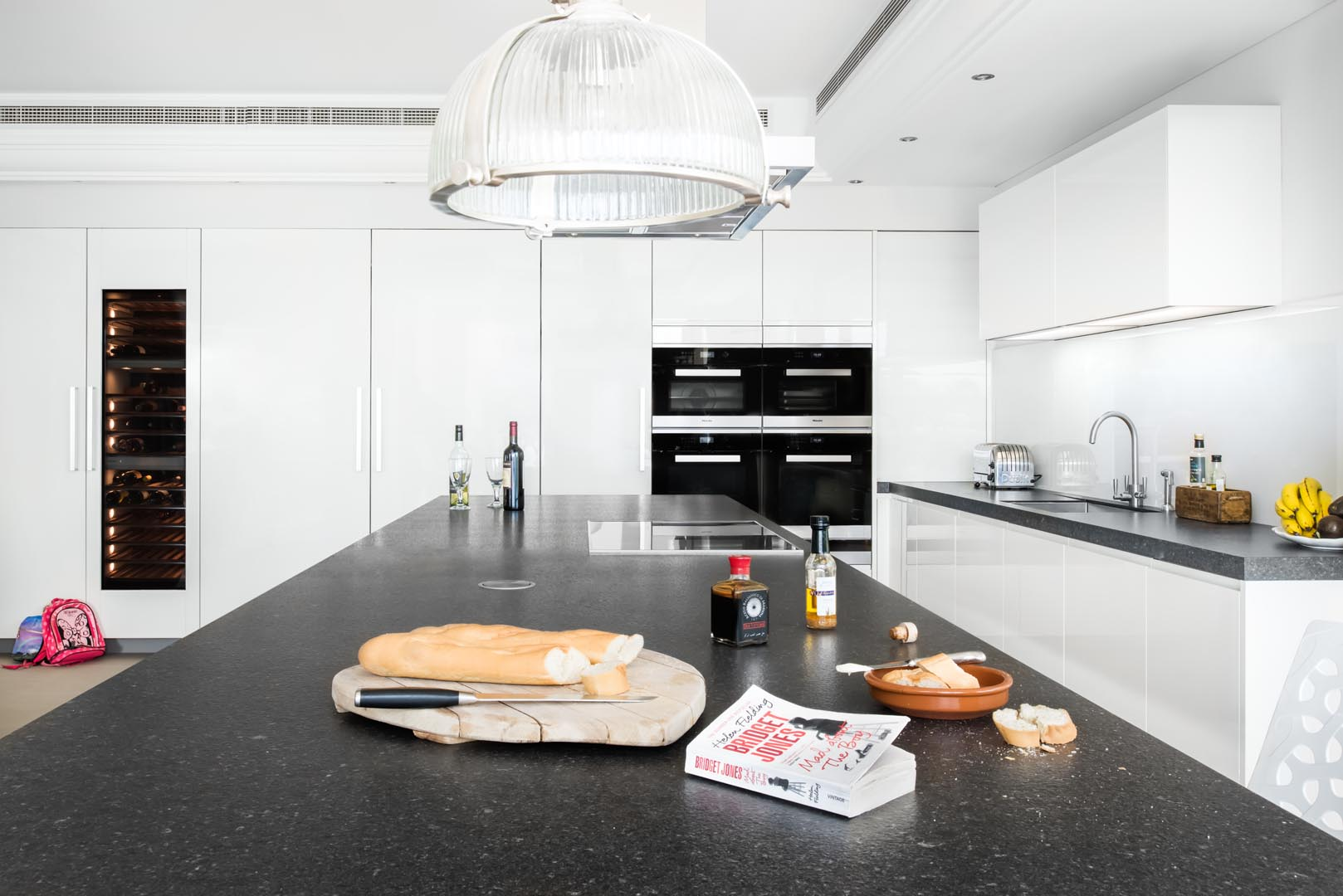 kitchen, Staffordshire, Granite, worktop, island, white, contemporary, Cheshire, Lichfield