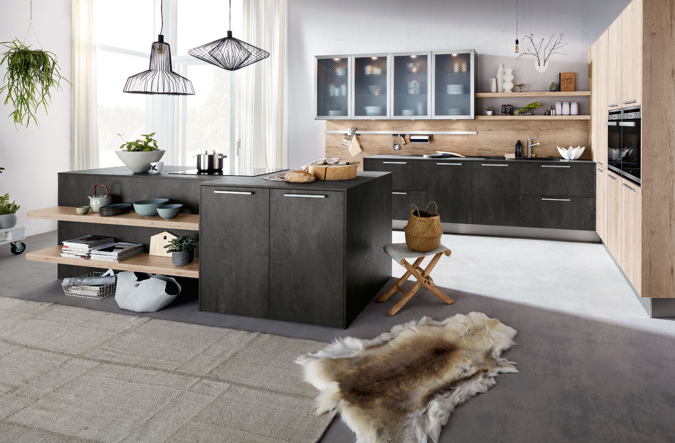 Kitchen, Staffordshire, Stafford, German, contemporary, island, family, room, Lichfiels, Stone