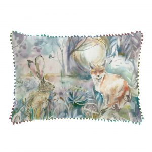 Voyage, Maison, Cushion, Fox, Hare, Staffordshire