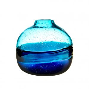 Voyage, Maison, Elemental, Glass, Chandre, Cobalt, Blue, Round, Vessel, Staffordshire