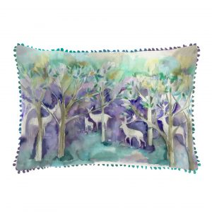 Voyage, Maison, Cushions, seneca, Forest, Winter, Deer, Staffordshire