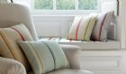 Minstrel, stripe, glaze, James Hare Ltd, fabric, offer Staffordshire, Curtains, Blinds