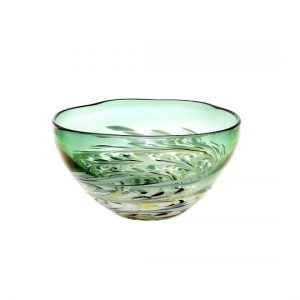 Voyage, Maison, Athena, Glass, Large, Bowl, Sale, Emerald, Staffordshire, Elemental, Glass, Ornament