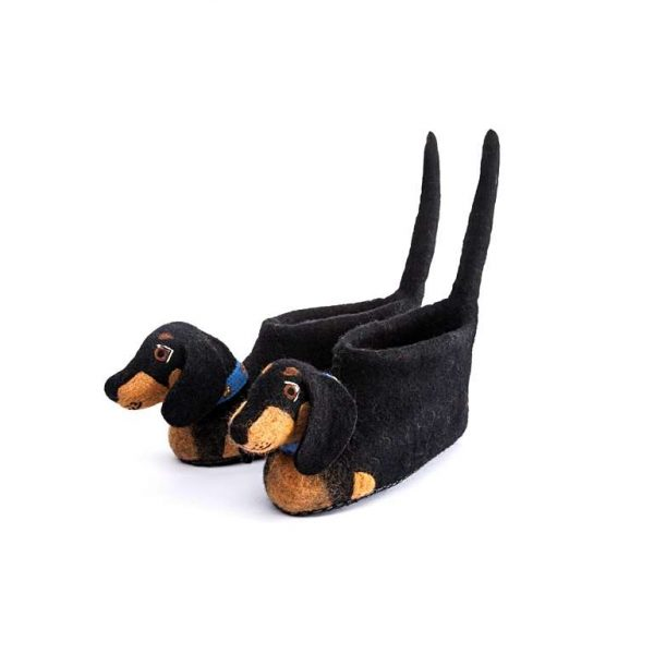 Dog, slippers, Dachshund, Desmond, UK 5 to 6, SALE
