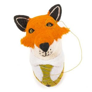 Finlay, Fox, Head, Wool, Felted